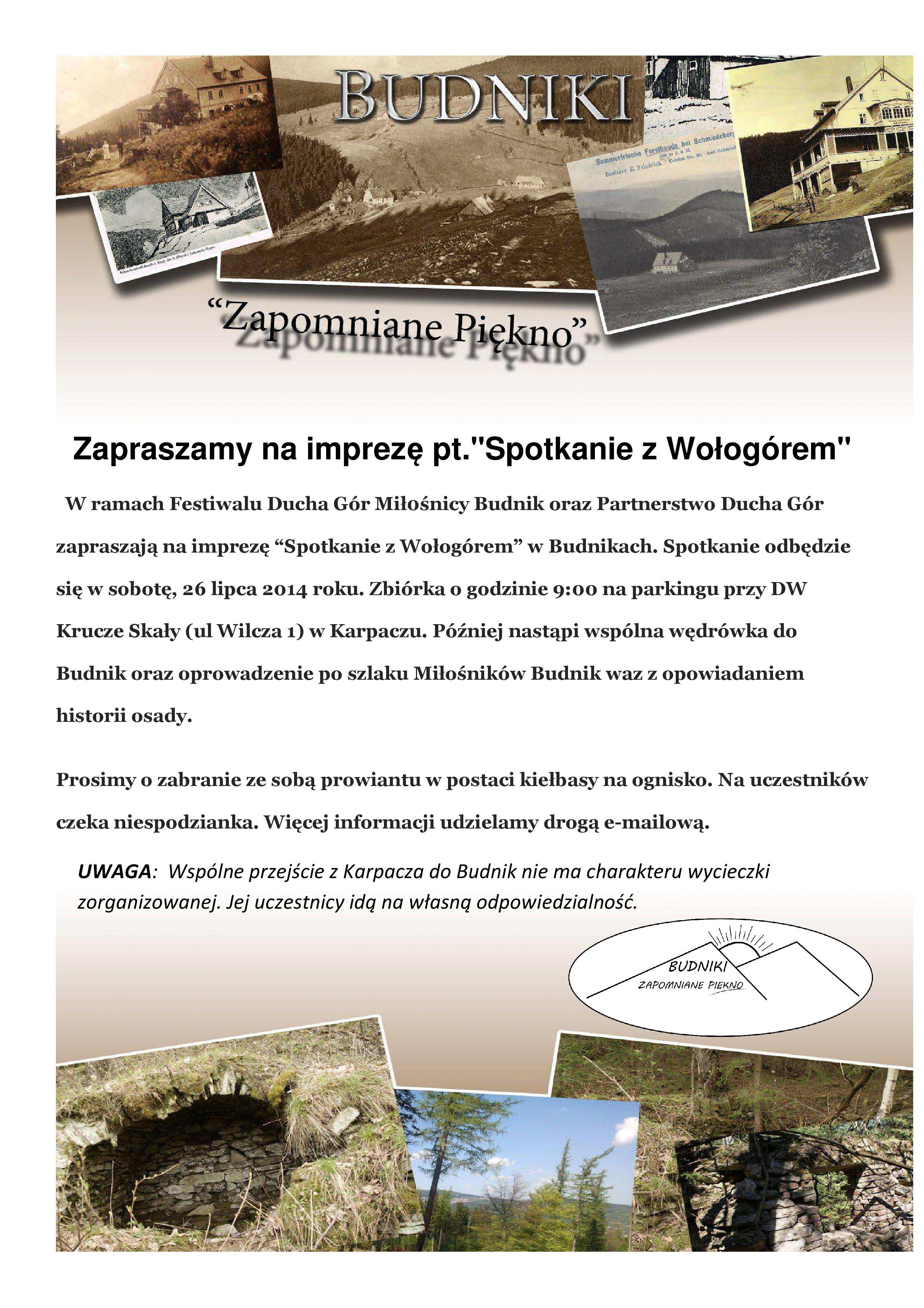 Spotkanie z Wołogórem - Festiwal Ducha Gór 2014